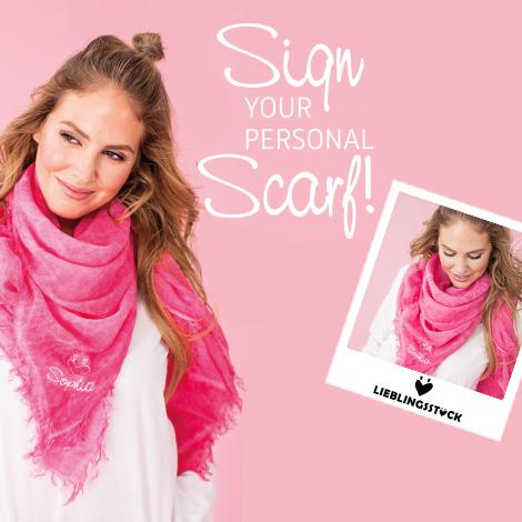 Individualisierter Schal von Lieblingsstück nur am 24. Oktober in Erding