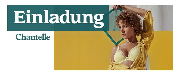 Einladung am 22. Mai Chantelle Modenschau in Erding