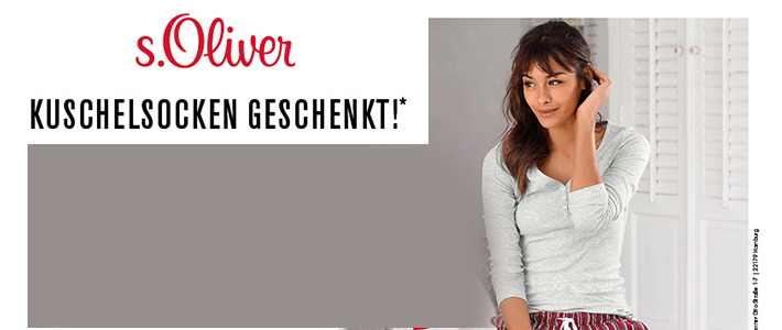 Für kalte Füße S.Oliver Kuschelsocken geschenkt