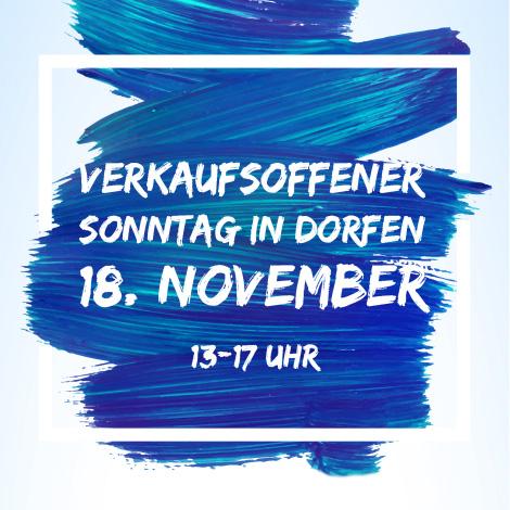Verkaufsoffener Sonntag am 18. November in Dorfen
