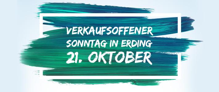 Einladung zum verkaufsoffenen Sonntag am 21. Oktober in Erding