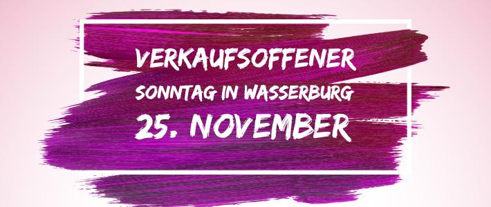 Verkaufsoffener Sonntag am 25. November in Wasserburg