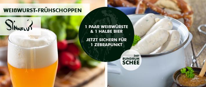 Weißwurst-Frühschoppen auf der Sinnflut Jetzt Gutscheine sichern!