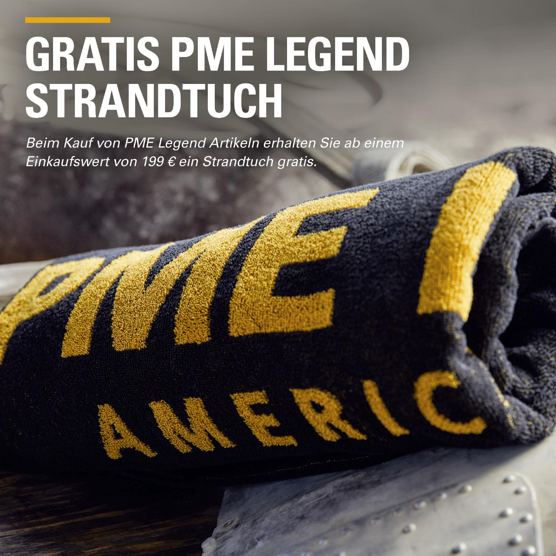Der Sommer kann kommen PME Legend Strandtuch geschenkt