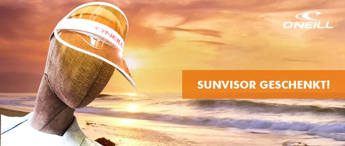 Sunvisor Cap geschenkt! Beim Einkauf von einem O'Neill Artikel