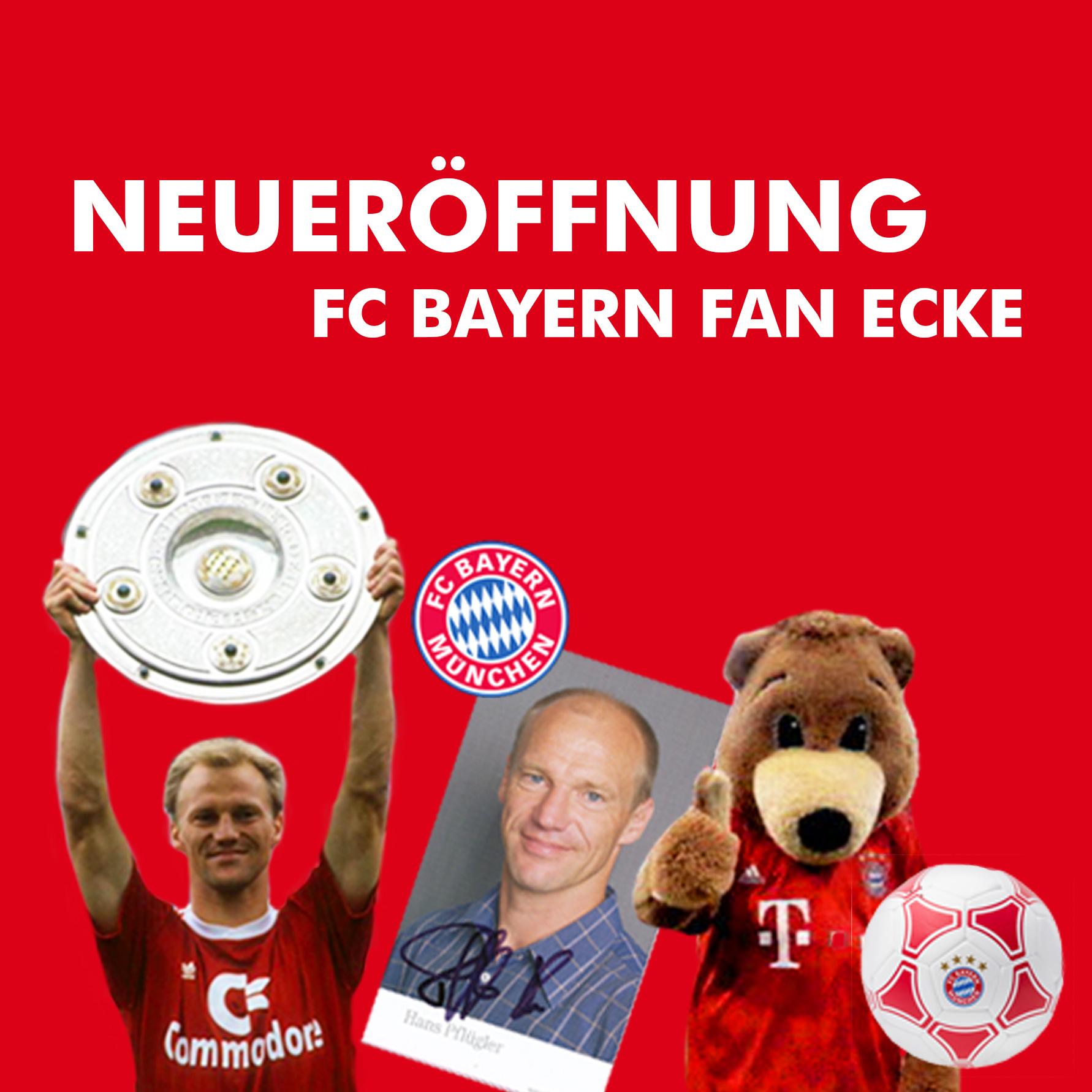 Gewinnspiel & Autogrammstunde Neueröffnung der FC Bayern Fan Ecke in der Therme